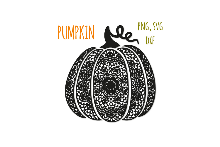 Fancy pumpkin svg. Swirl pumpkin example image 1