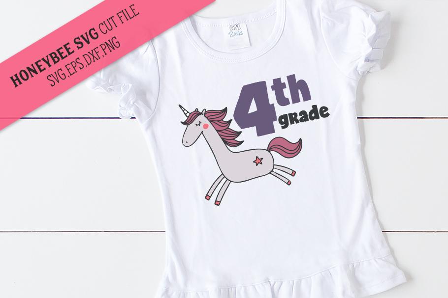4th Grade Unicorn SVG Cut File example image 1
