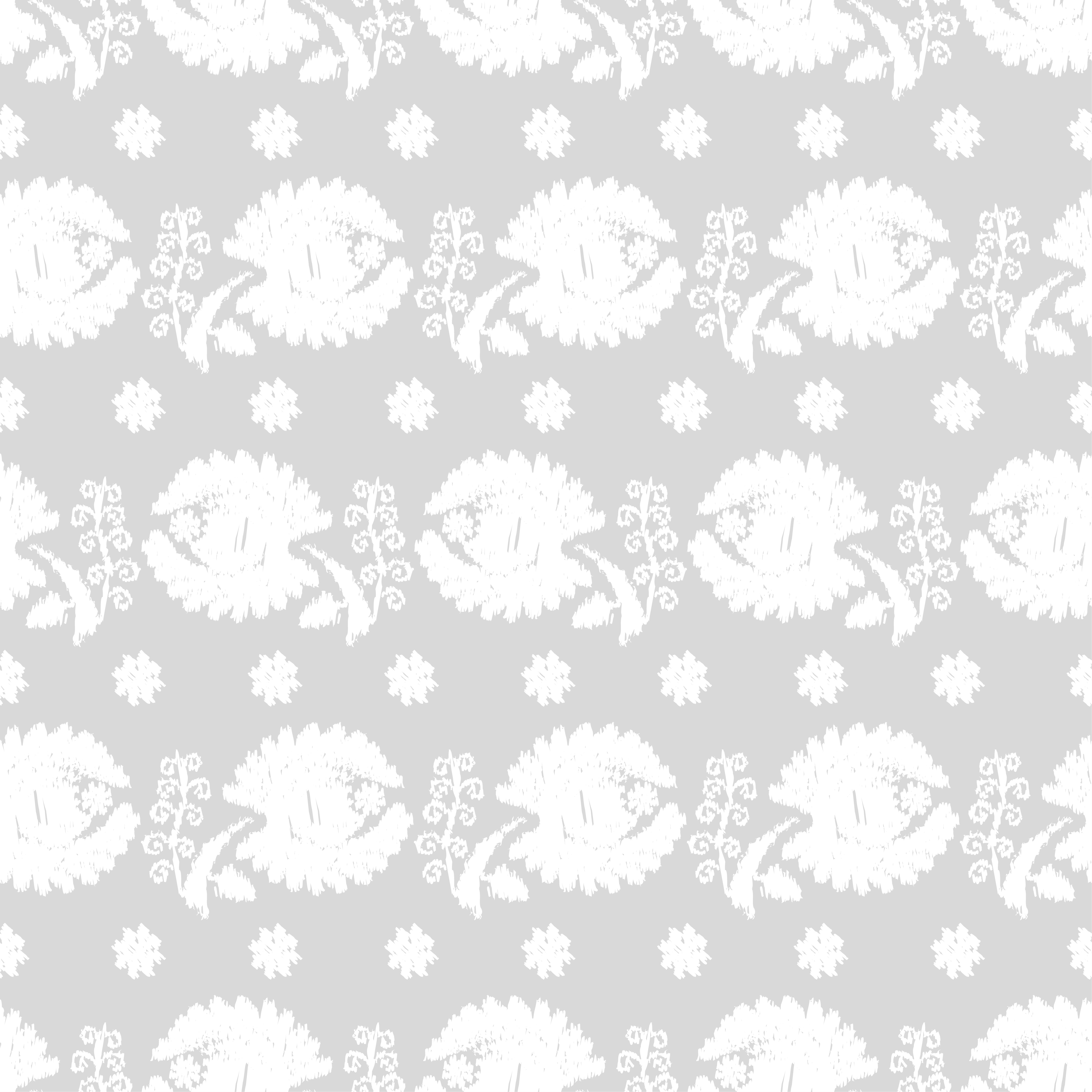 Set of 6 Seamless vector background. White flowers on a gray background. example image 7