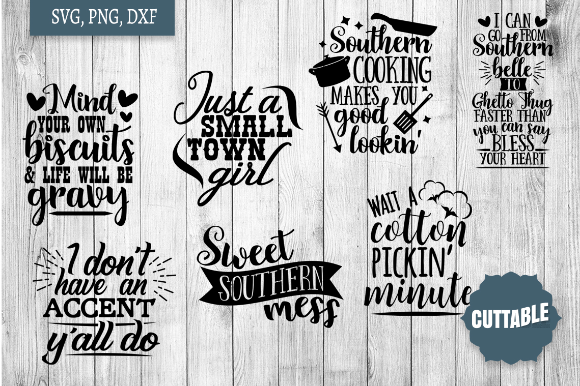 Southern cut file Bundle, Southern girl SVGs quotes example image 3
