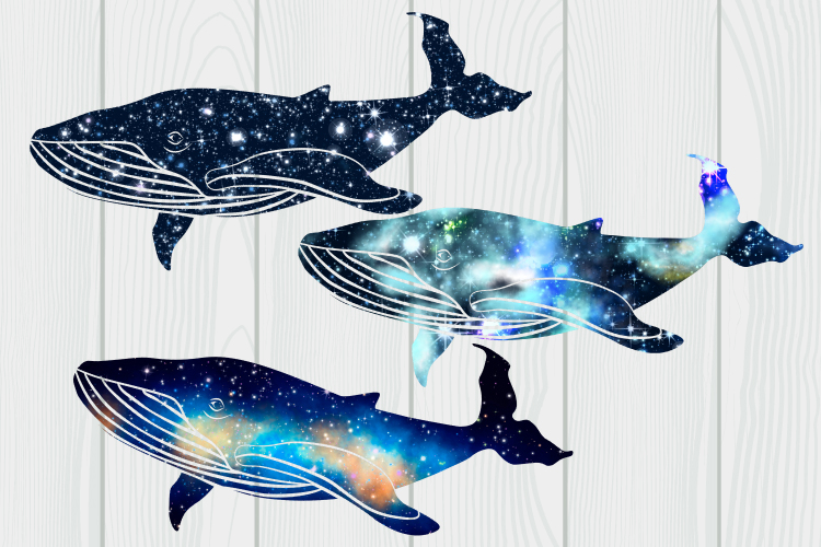 Galaxy whales clipart example image 6