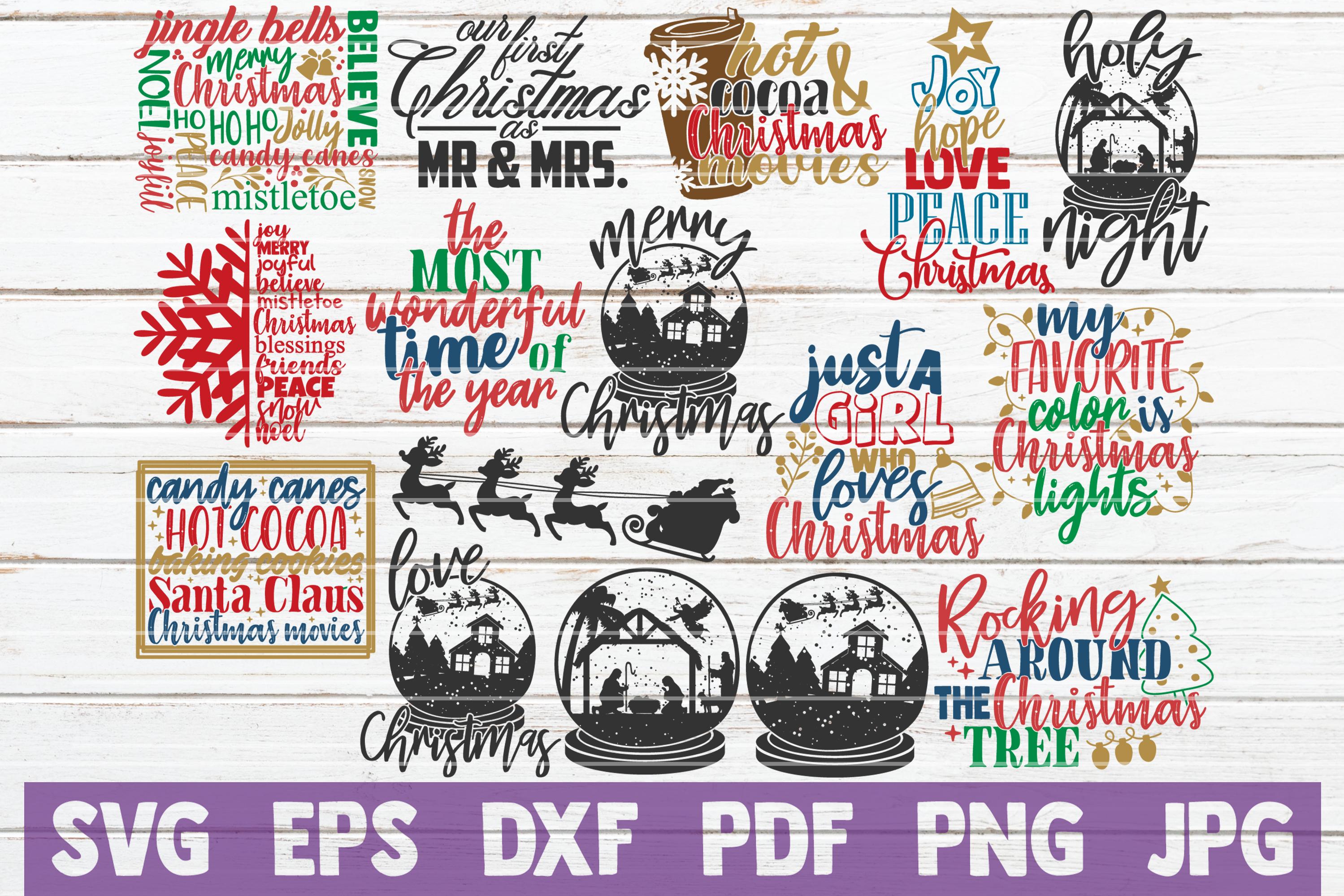 HUGE Christmas SVG Bundle |100 Holiday Designs SVG Cut Files example image 2