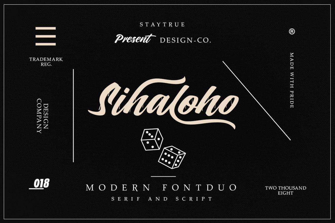 Sihaloho Font Duo example image 2
