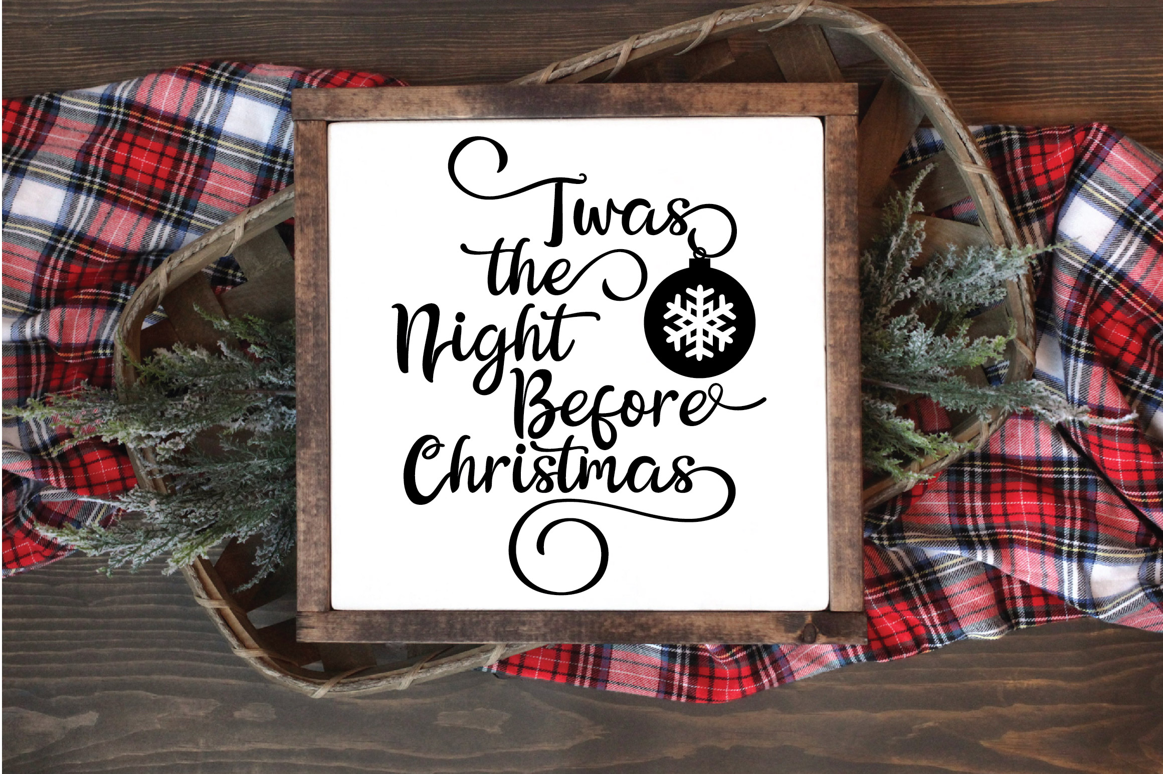 Christmas SVG Cut File - The Night Before Christmas SVG DXF example image 2