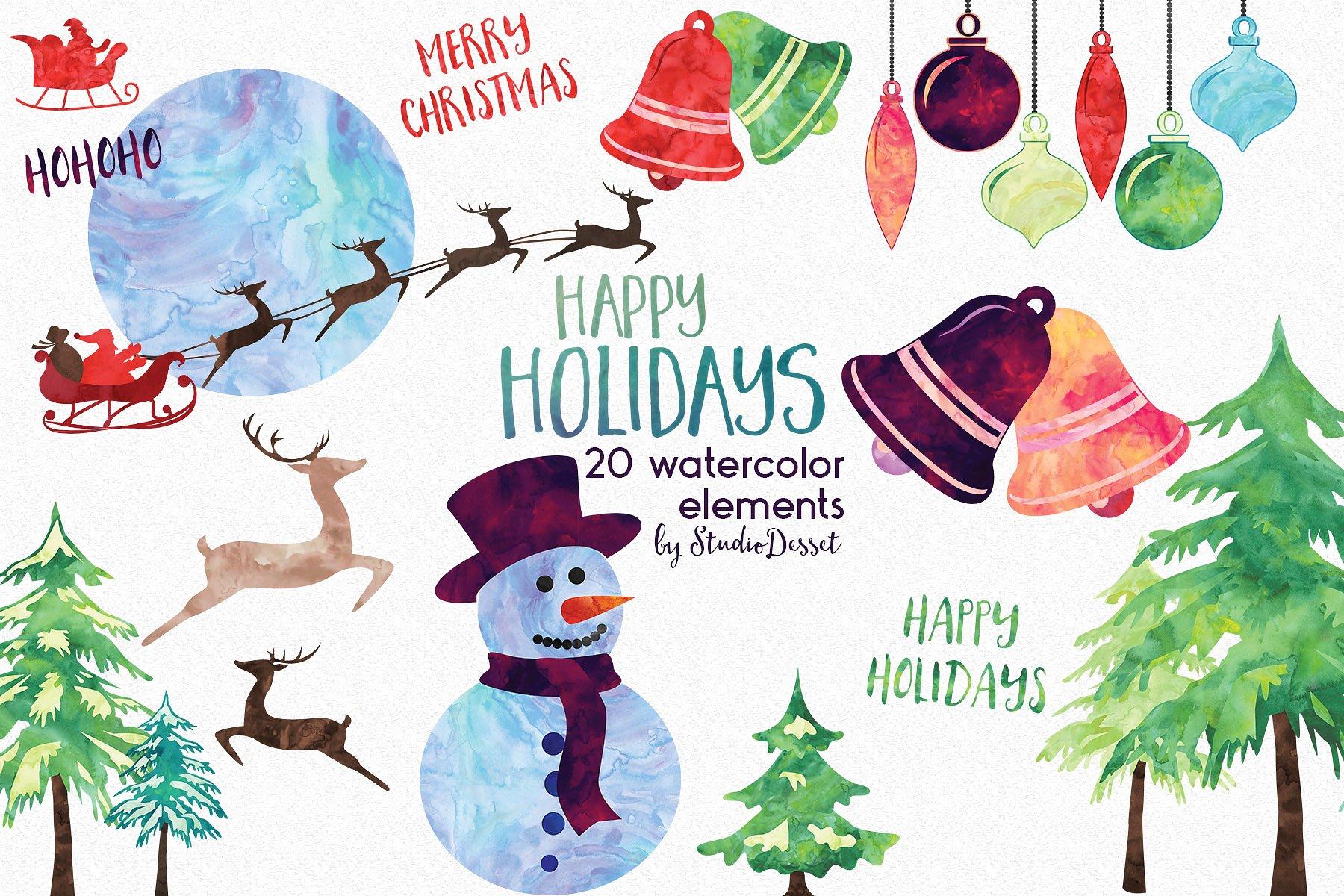 Christmas Bundle of Illustrations example image 10