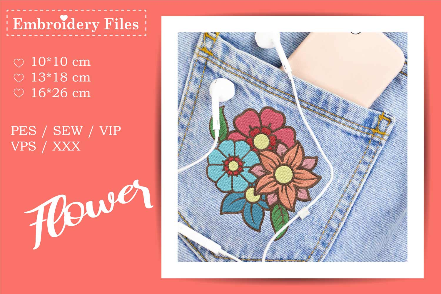 Flower Bouquet - Embroidery File example image 3