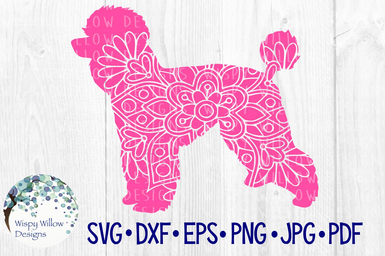 Poodle, Dog Mandala, Animal Mandala SVG Cut File example image 1