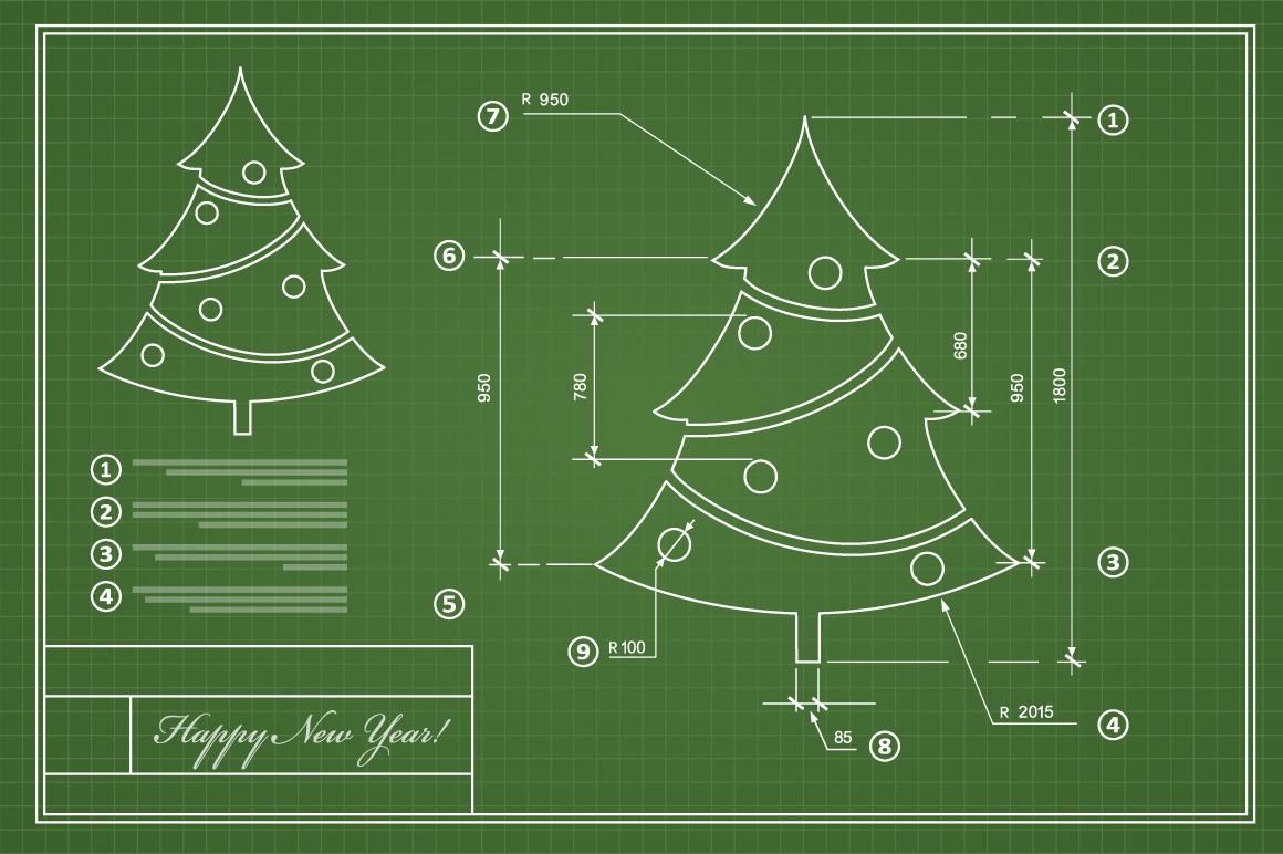 Christmas vector card scheme example image 3
