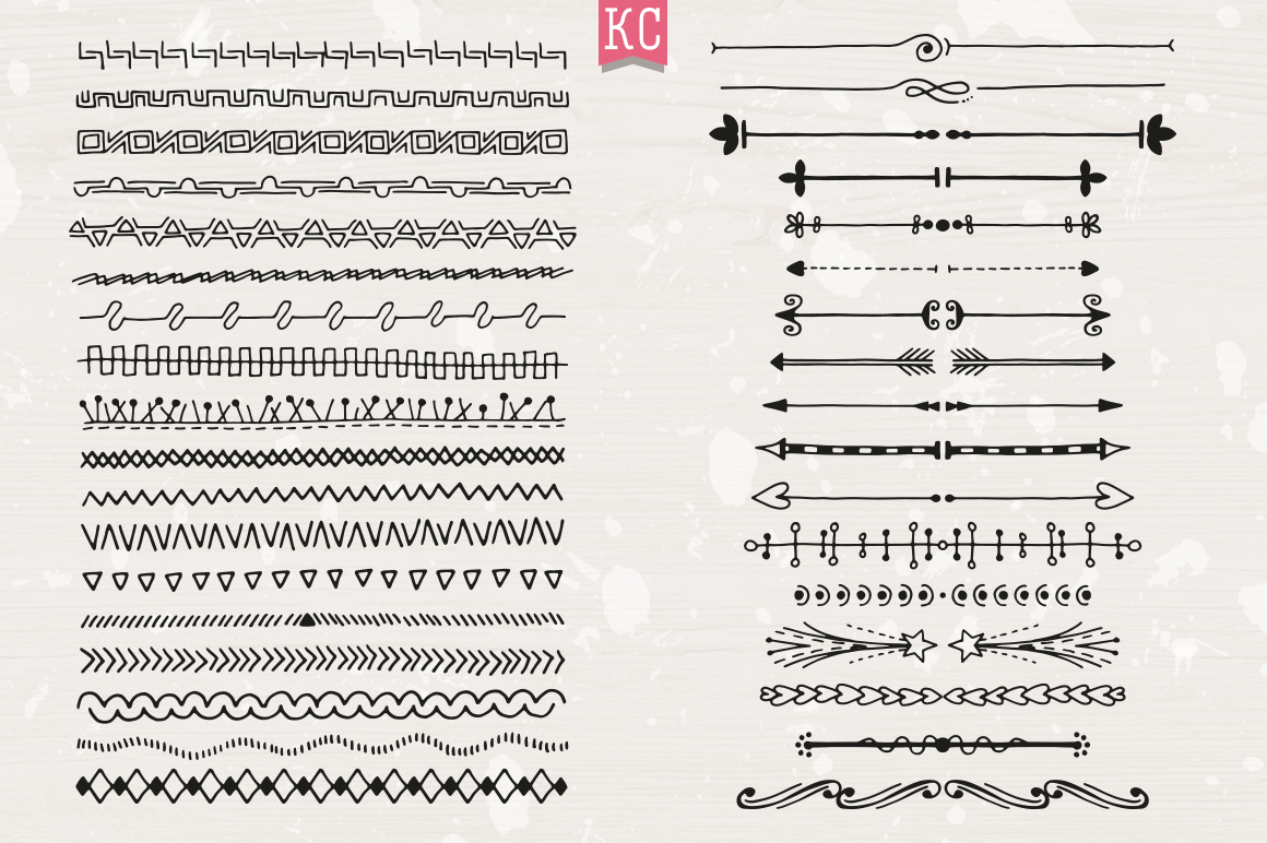 Hand Drawn Doodle Dividers example image 6