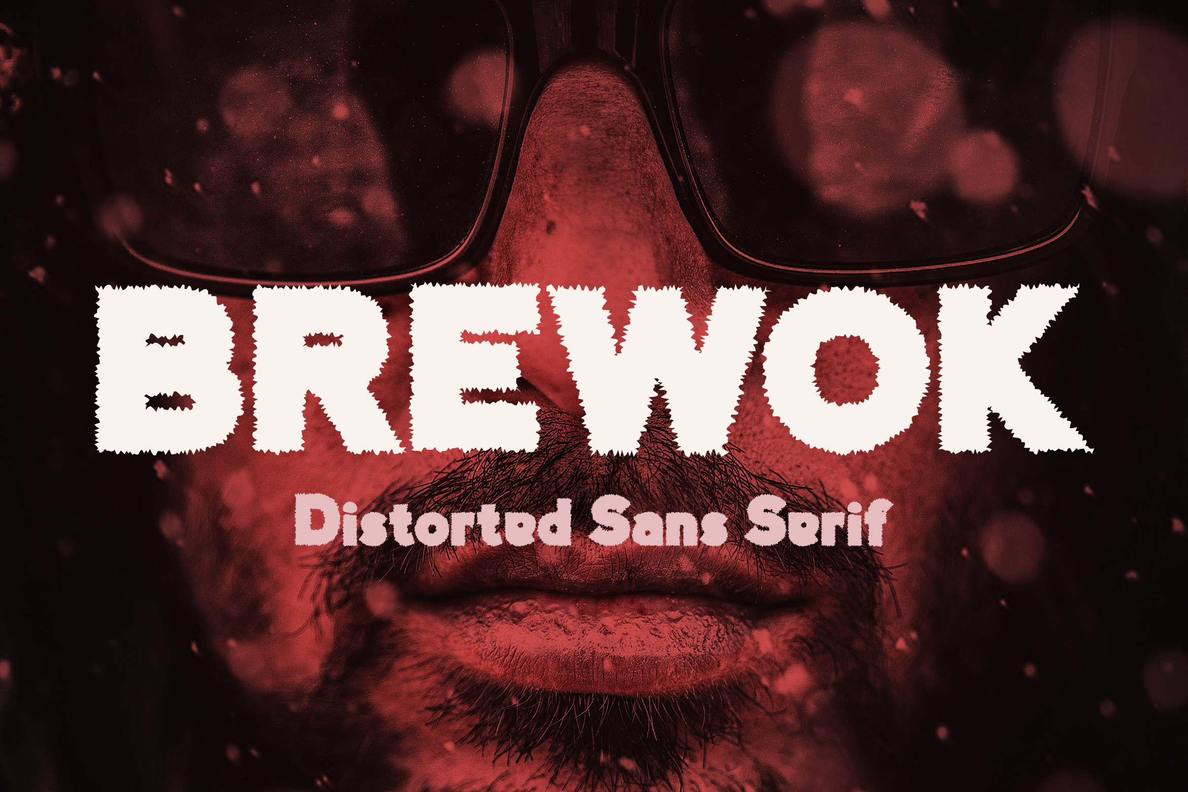 Brewok Distorted Font example image 1