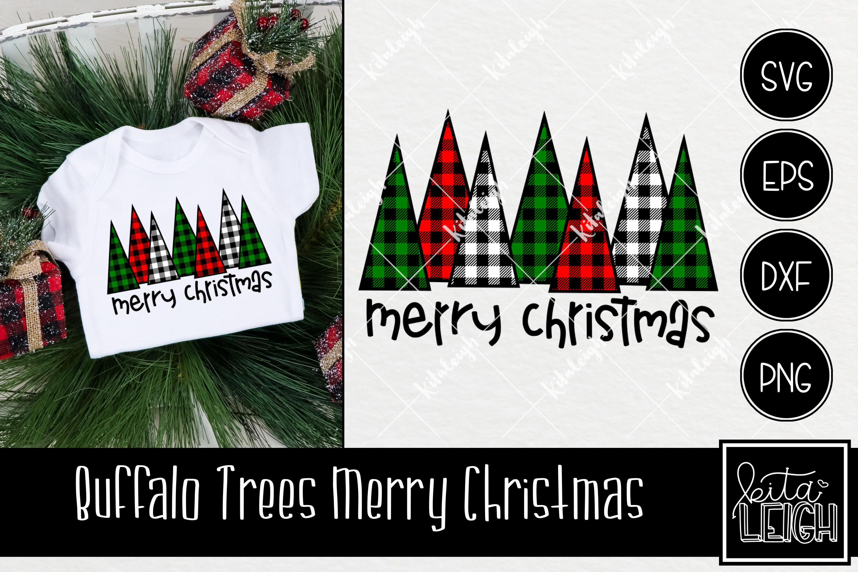 Buffalo Plaid Christmas Bundle SVG example image 5