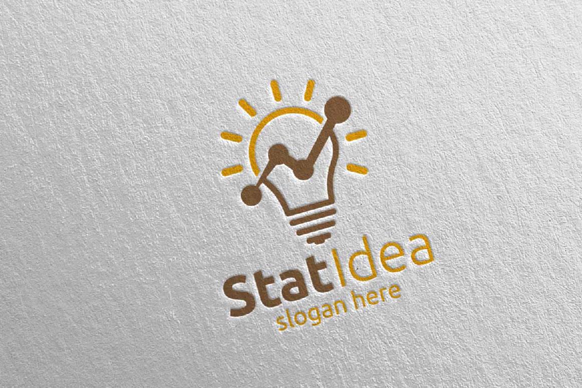 Stat Idea Marketing Financial Advisor Logo Design 16 example image 4