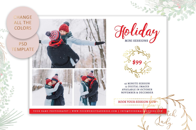 PSD Photo Mini Session Card Template - Design #20 example image 4