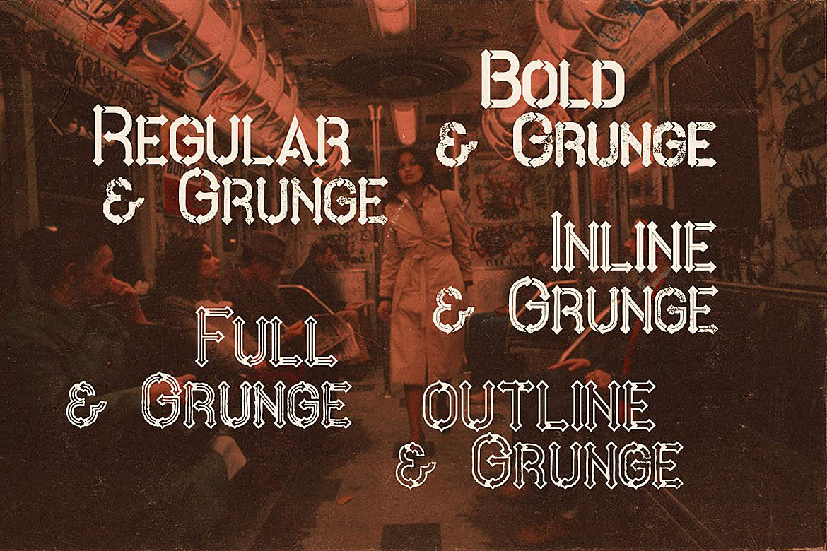 Metro - 10 Fonts Family example image 3