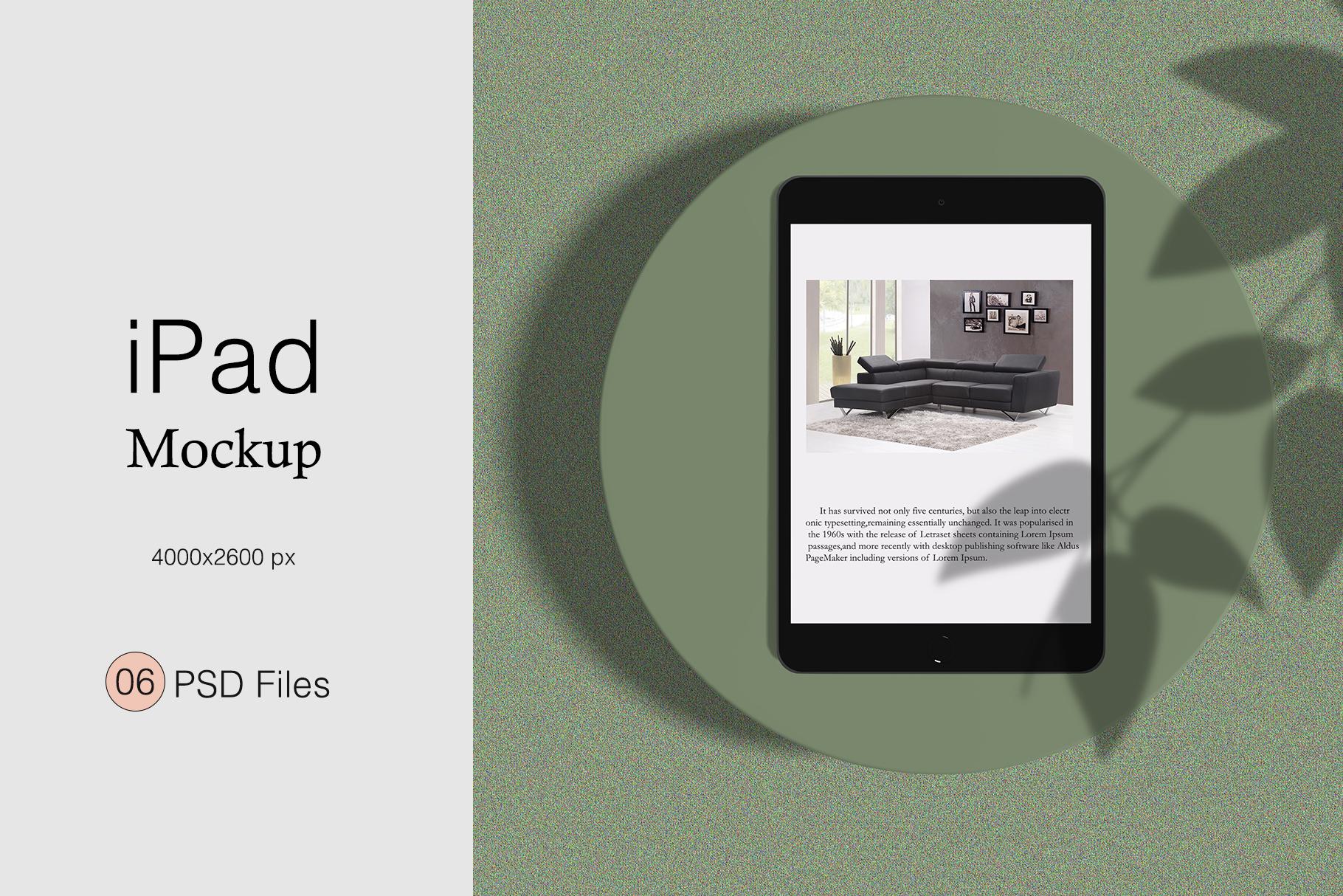 Minimal iPad Mockup example image 1