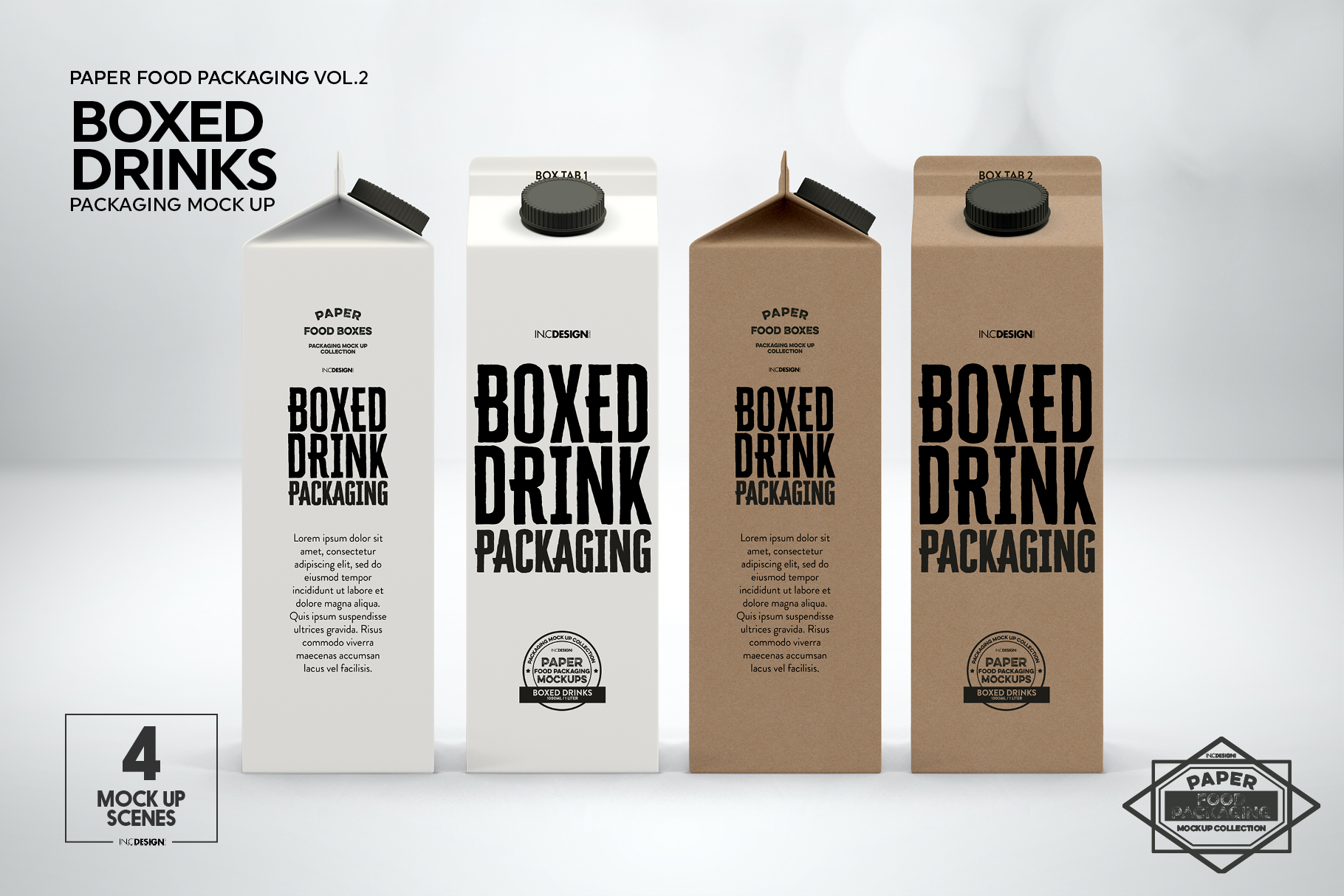 Boxed Drink Liquid Packaging Mockups example image 4