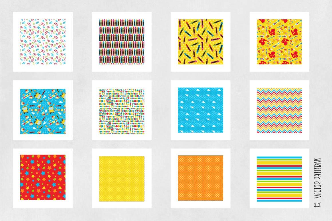 SCHOOL-KIDS, digital papers example image 3