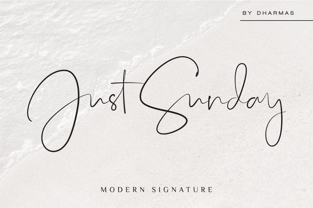 Just Sunday - Family Modern Script example image 15