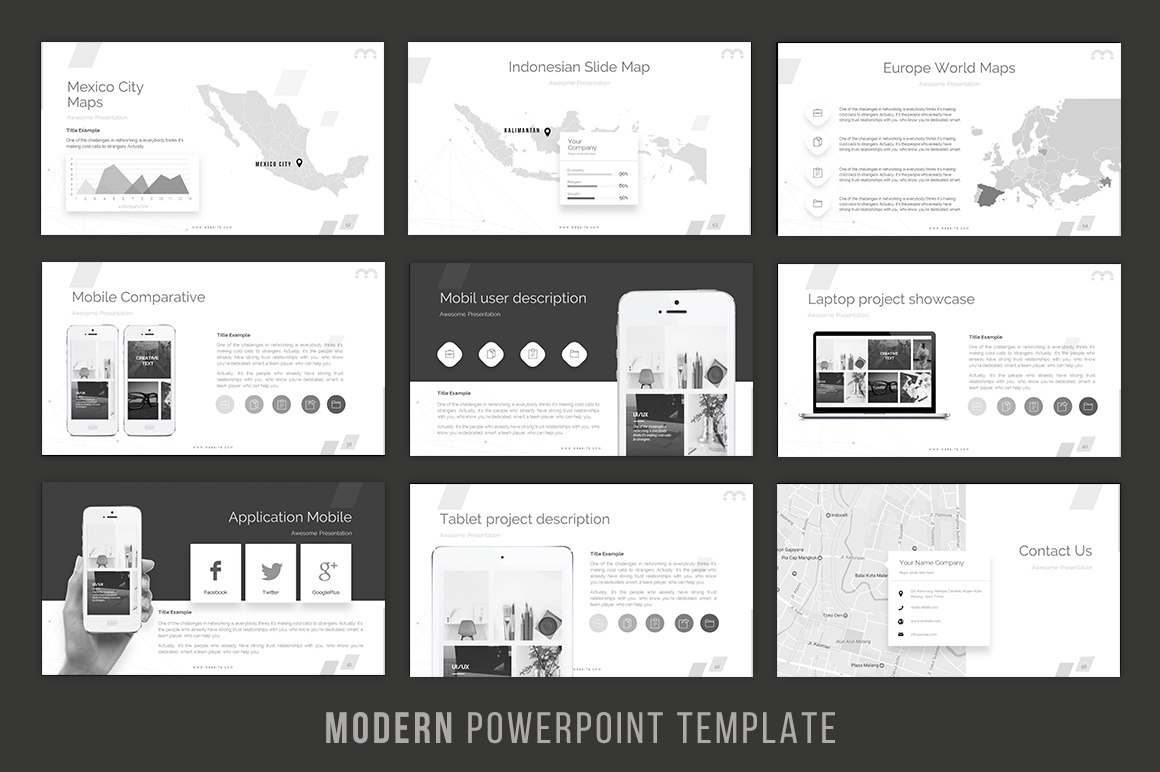 Modern - Powerpoint Template example image 6