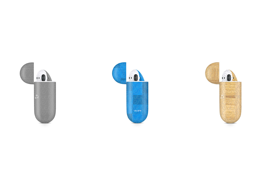 Apple AirPods Wireless Charging Case Vnyl Skin Design Mockup example image 4