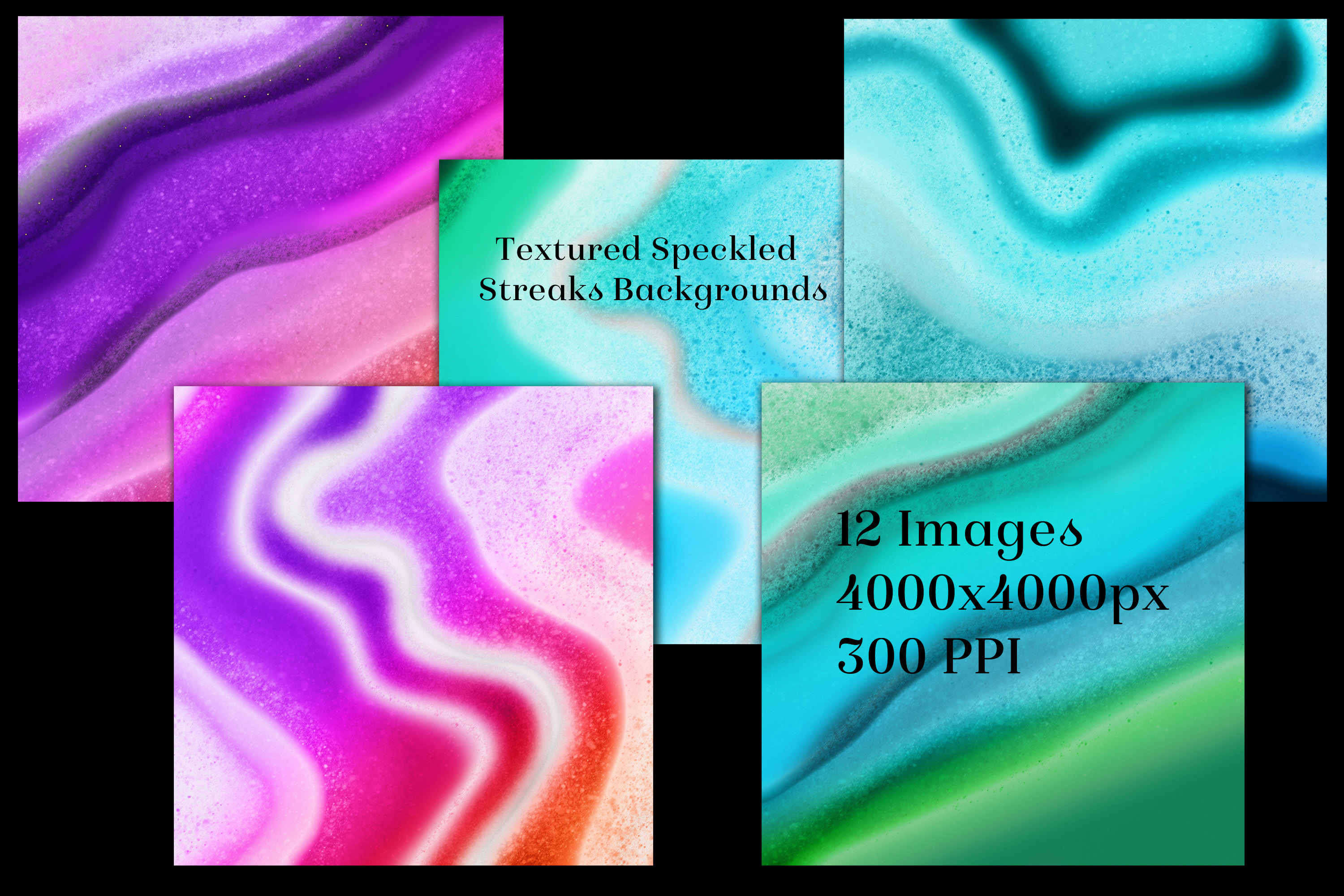 Textured Speckled Streaks Backgrounds - 12 Image Textures example image 2