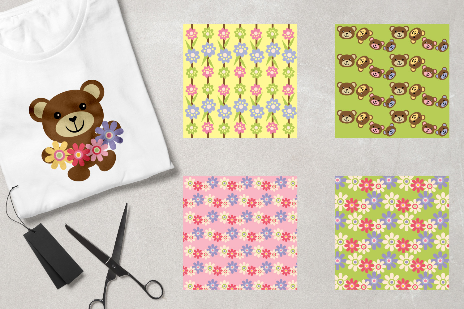 Teddy Bear Spring Graphics example image 2