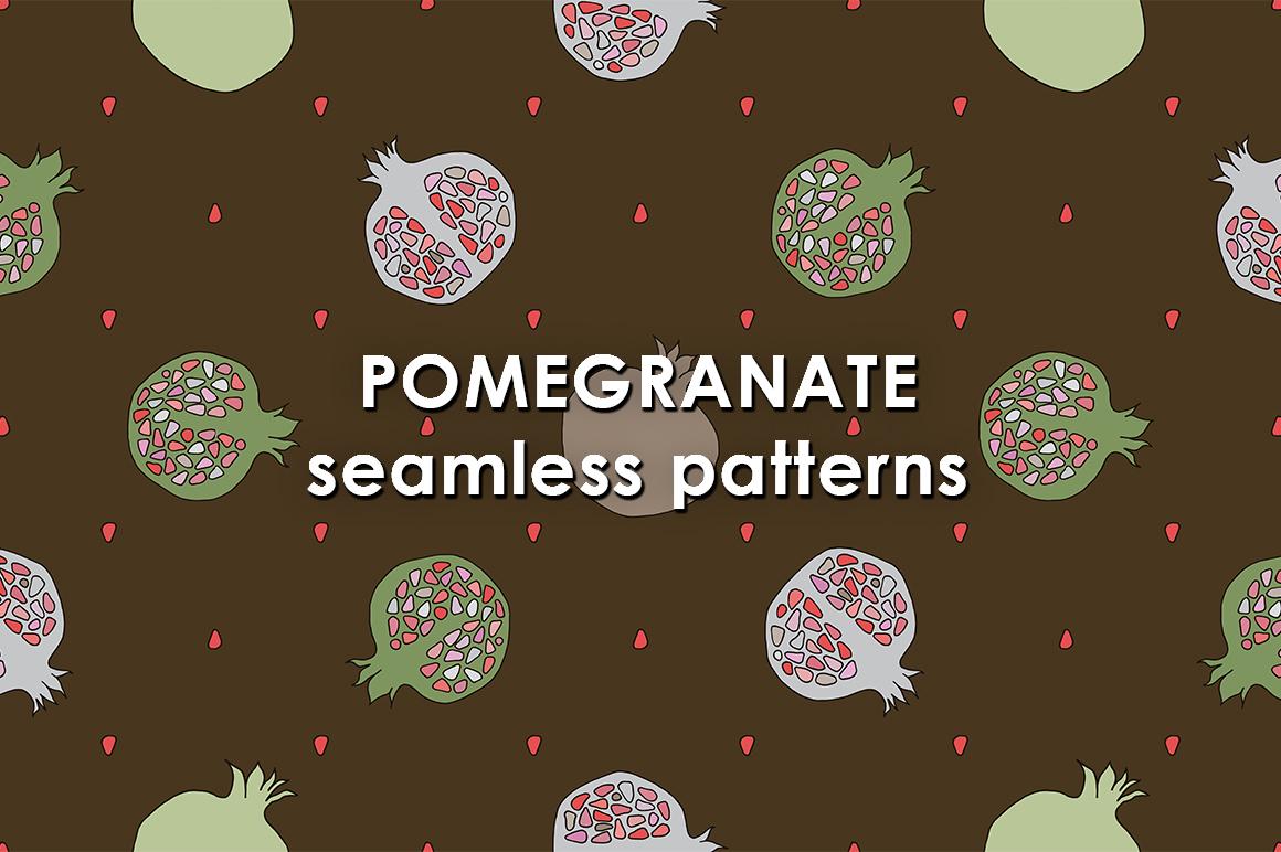 Pomegranate patterns set example image 1