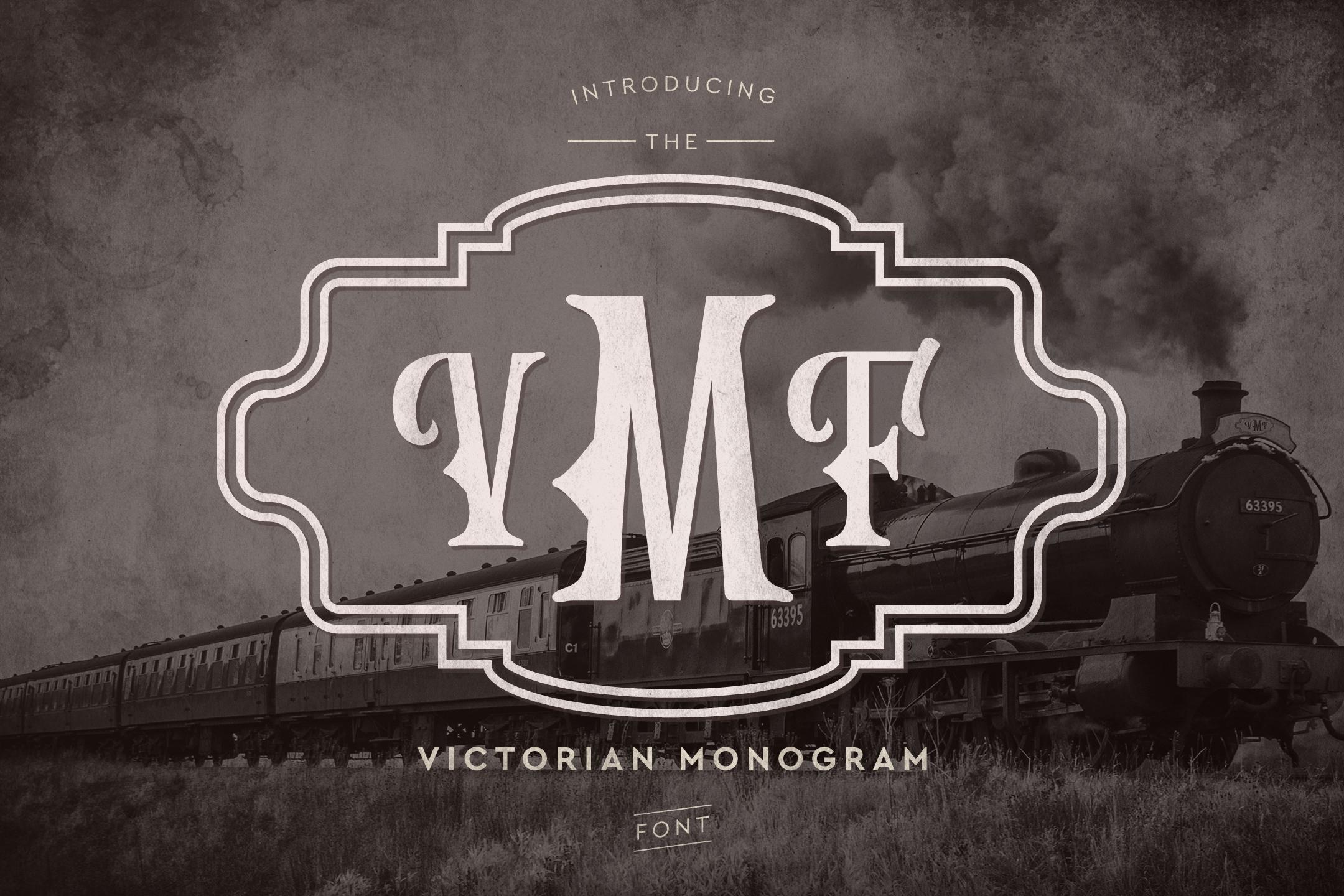 Victorian Monogram Font example image 1