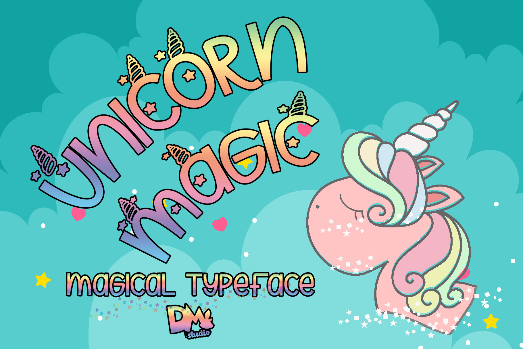 Unicorn Magic - Magical Typeface example image 1