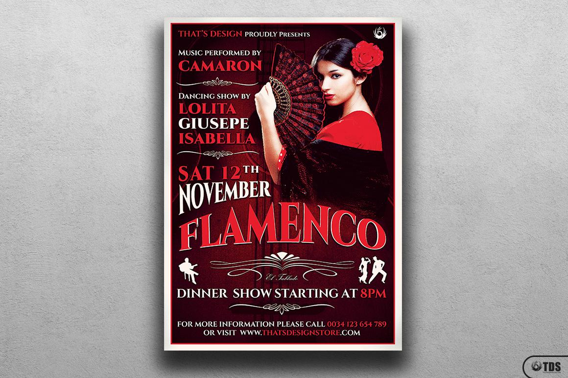 Flamenco Flyer Template V2 example image 1
