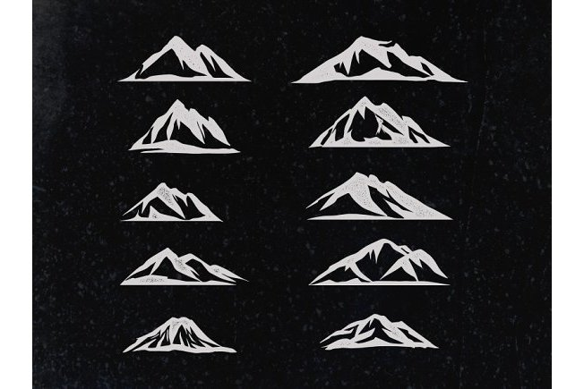 Mountain vector illustrations example image 4