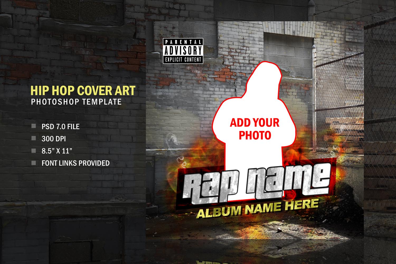 Music Rapper Album Cover, Photoshop Template Design example image 2