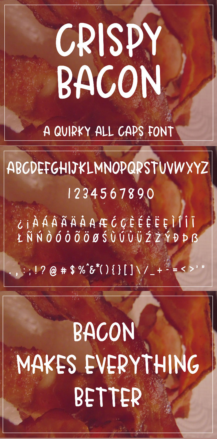 Crispy Bacon - A quirky all caps font example image 8