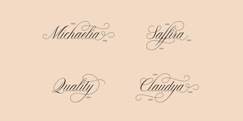 Claudya Script example image 6