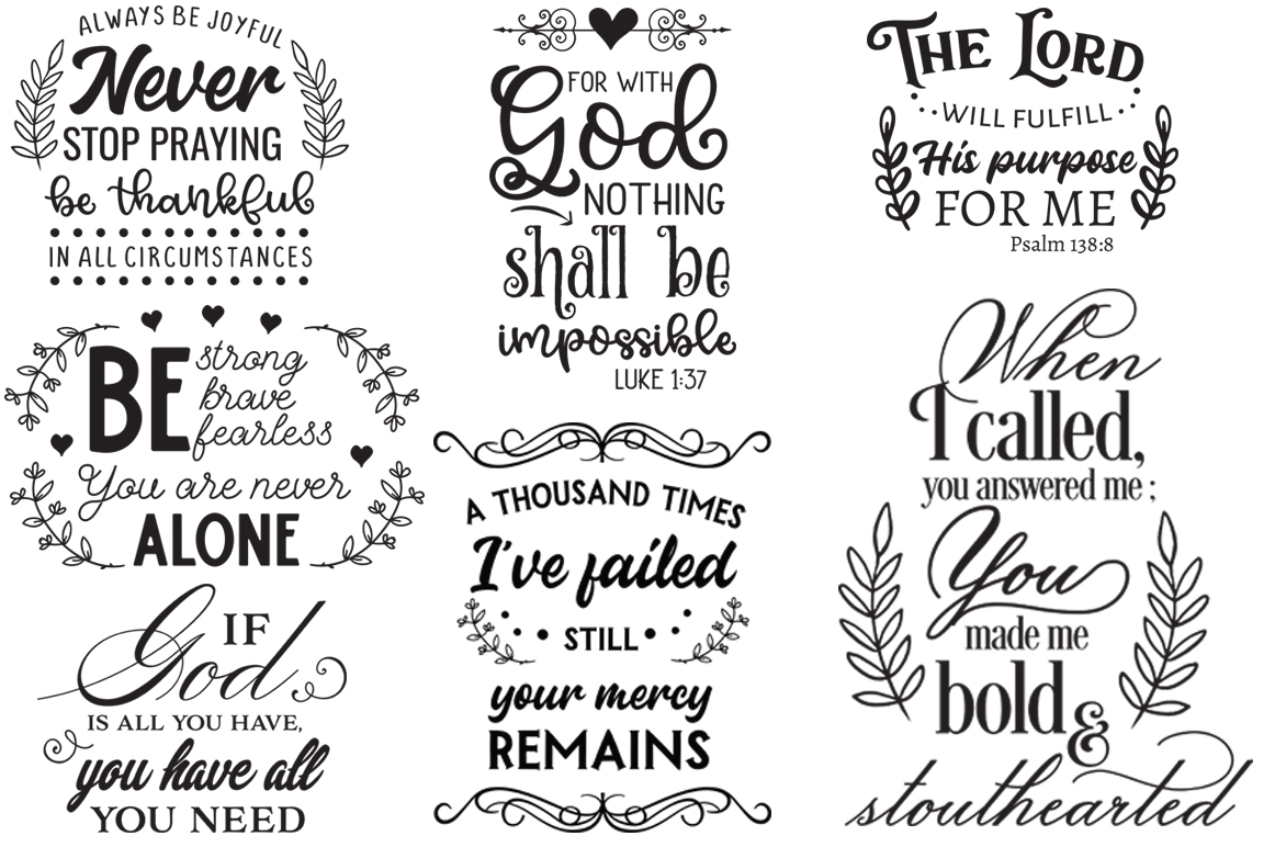 The Religious Pack - 50 Cutting Files SVG DXF EPS PNG example image 5