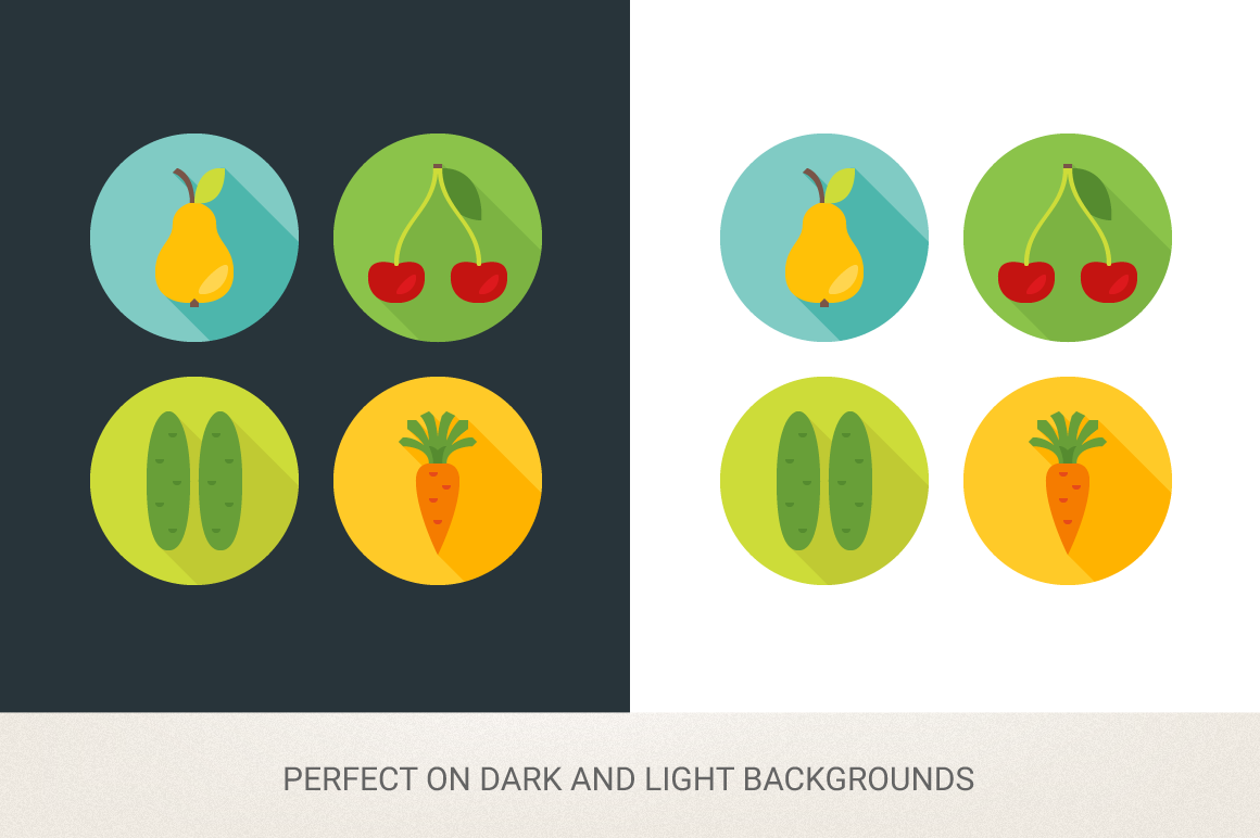 Round Food Icons example image 2
