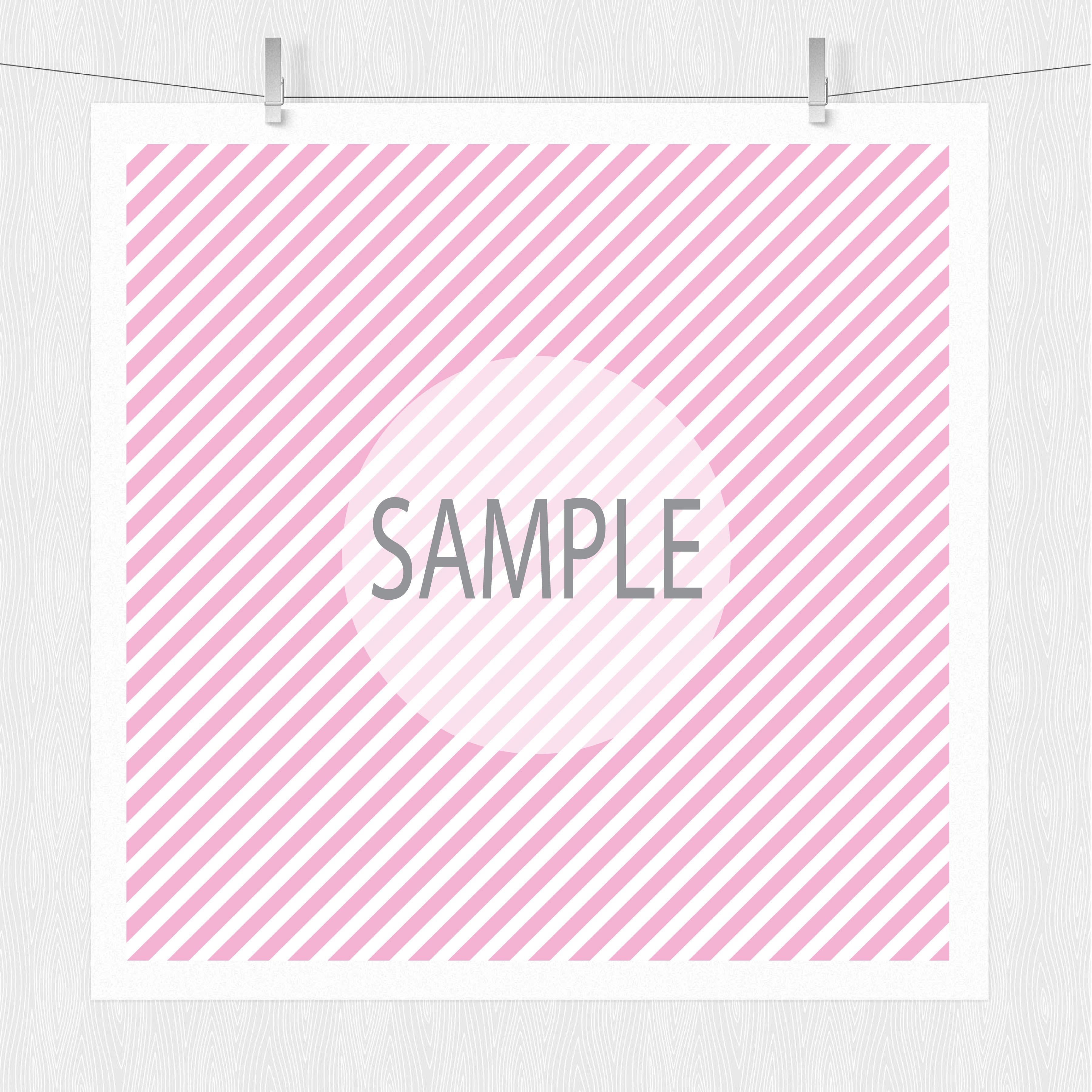 Diagonal Stripe Digital Scrapbook Paper  example image 3