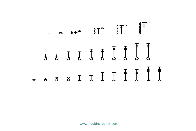 HookinCrochet Symbols 2 Font Software example image 5