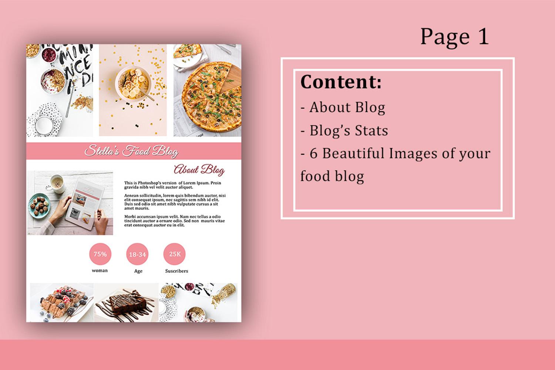 Influencer Food Media Kit Template - Sponsorships For Blogs example image 2