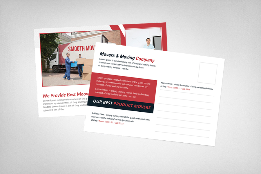 Movers & Moving Company Postcard Template example image 2