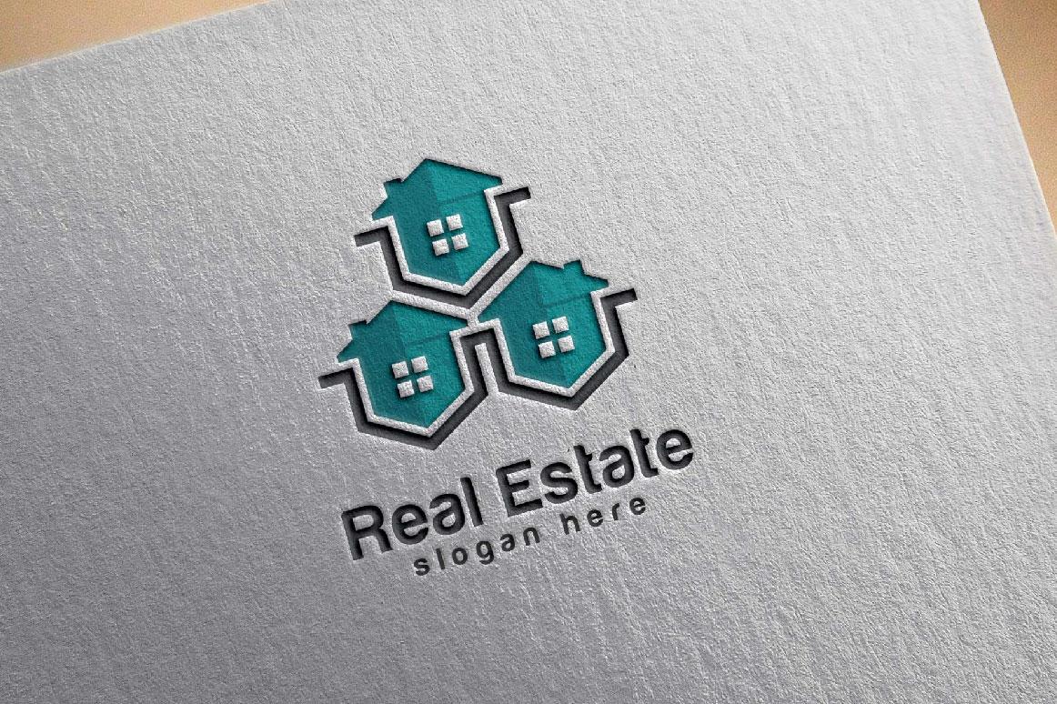 Real Estate logo, Abstract home logo example image 6