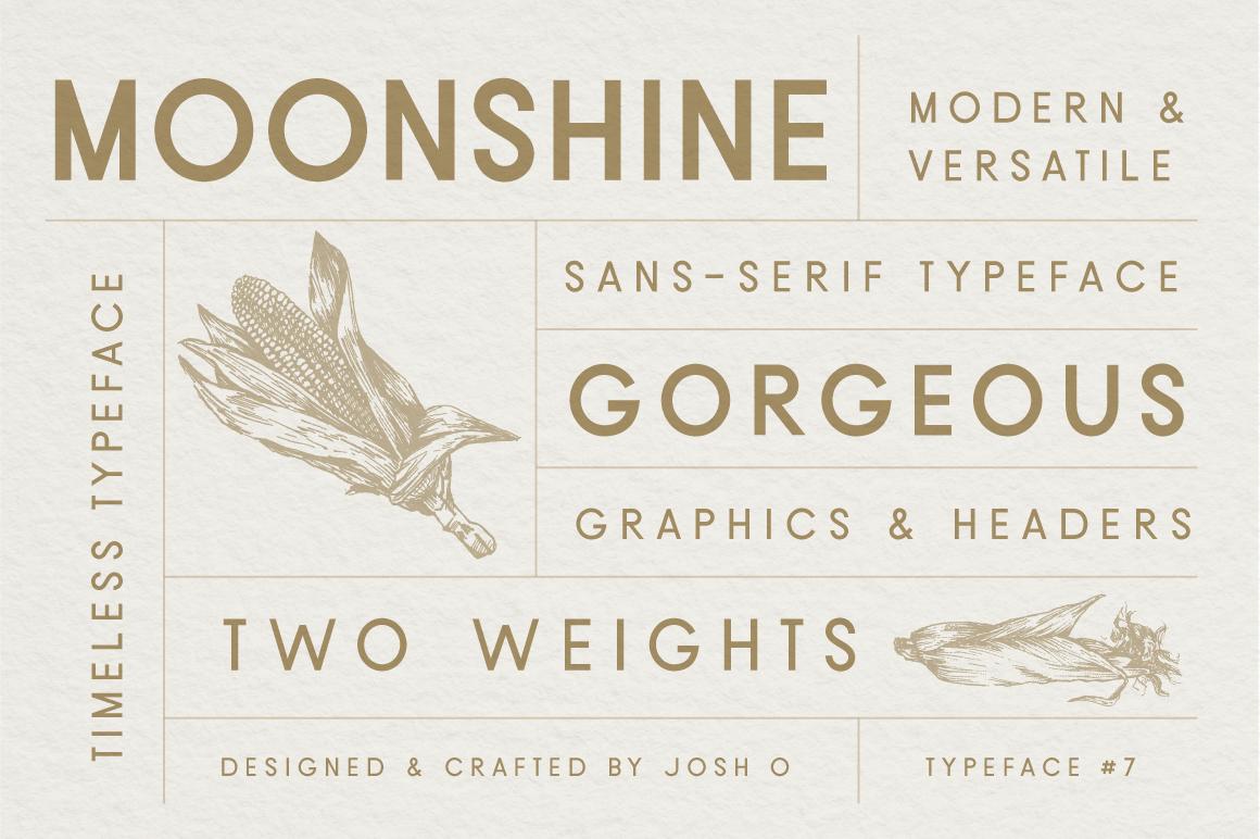 Moonshine Font | A Classic Sans Serif example image 1