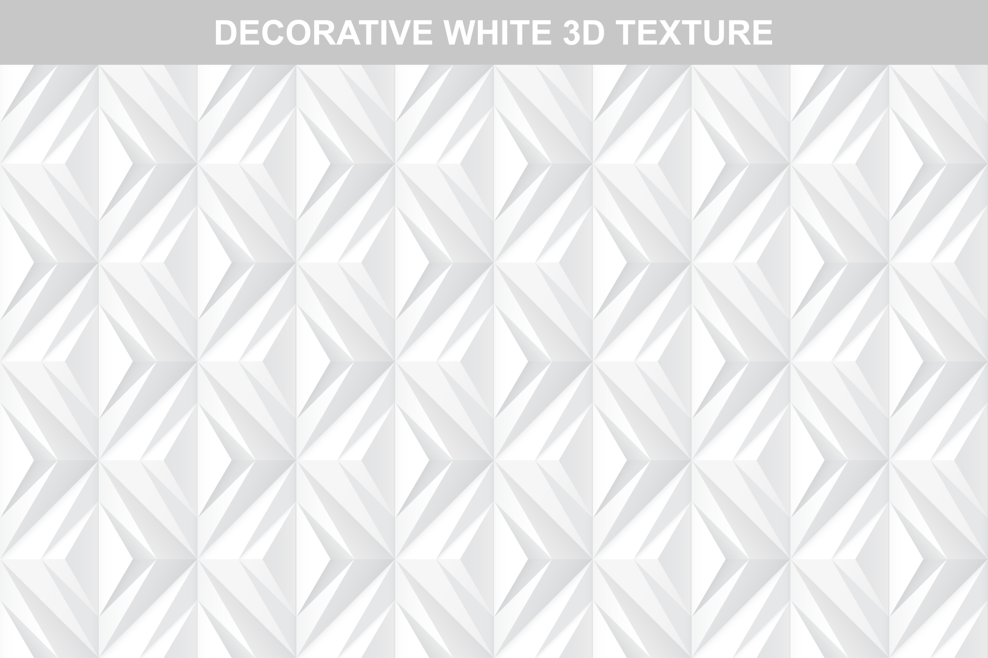 White decorative 3d texture.Seamless example image 1