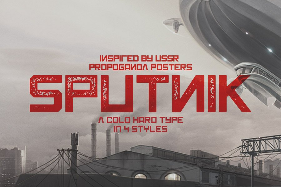 Sputnik Typeface example image 2