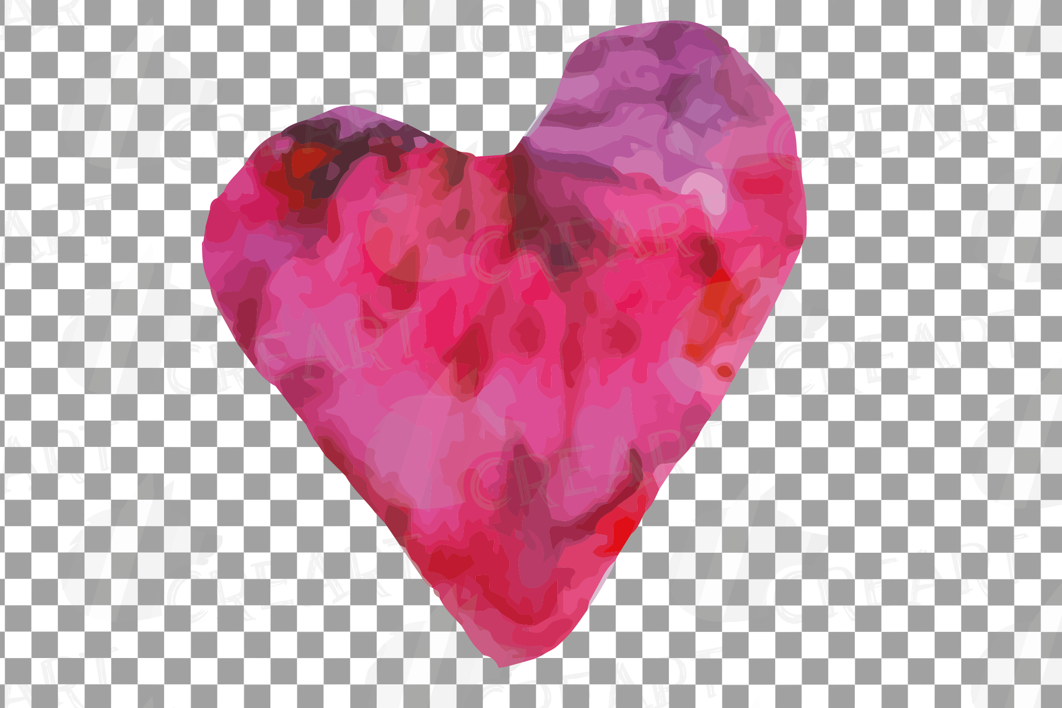 Watercolor little hearts clip art, colorful Valentine example image 10