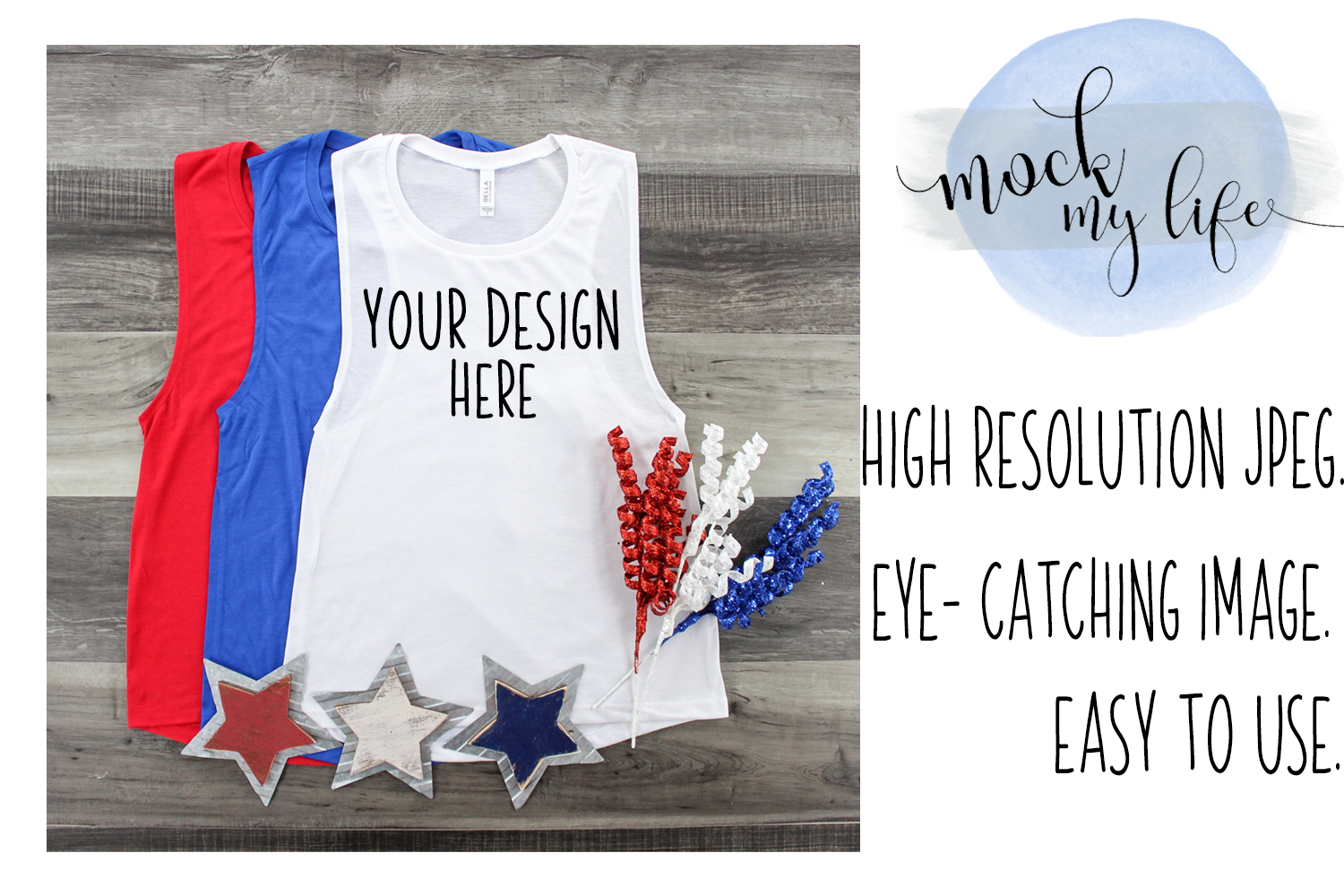 Bella Canvas Mockup / Patriotic / Independence Day example image 1