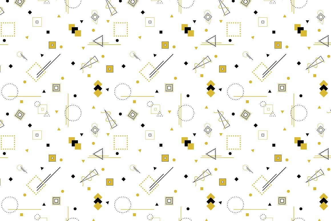 Memphis seamless geometric patterns example image 3