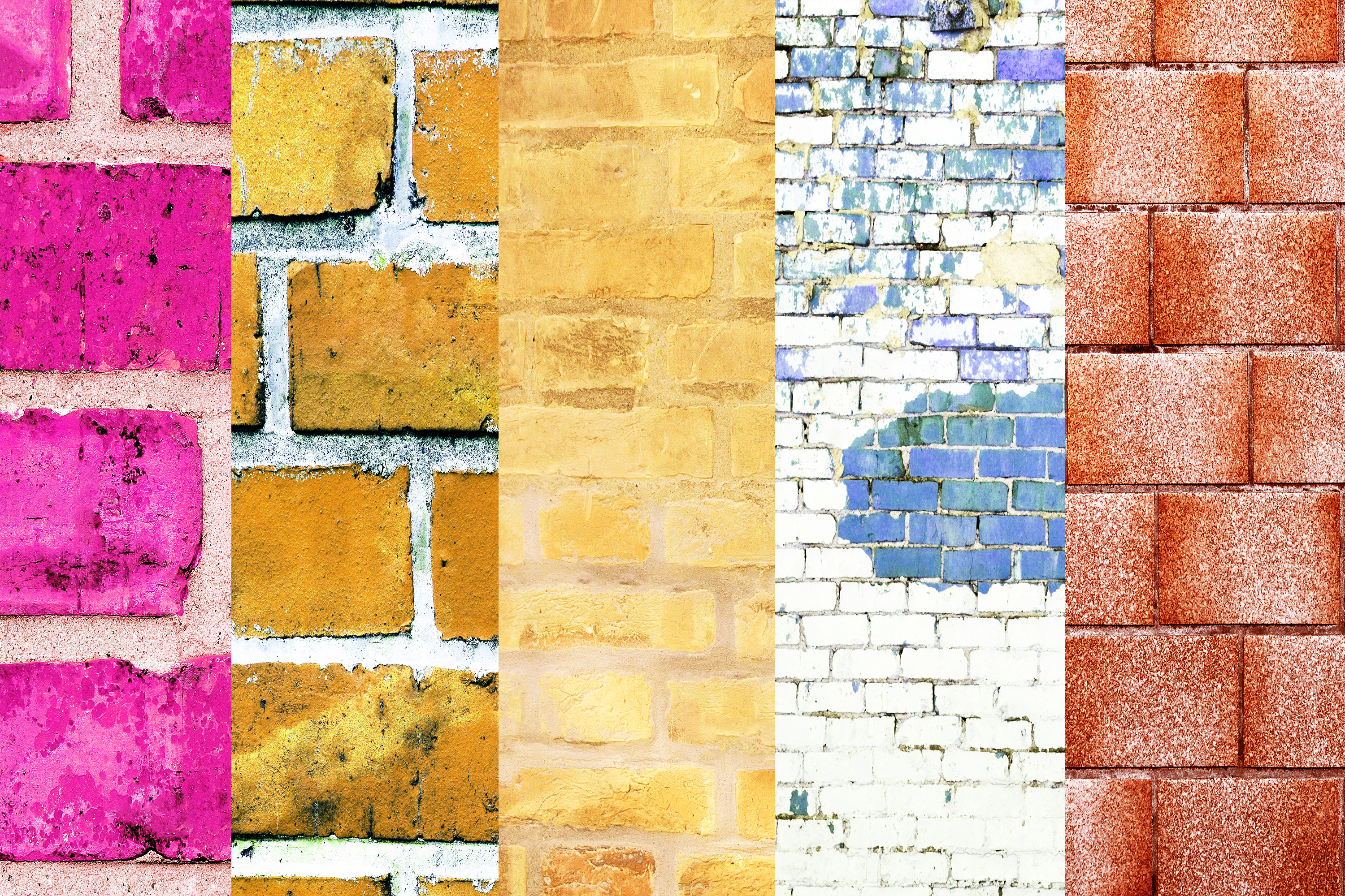 Brick Wall Digital Papers, Wall Textures, Wall Backgrounds example image 3