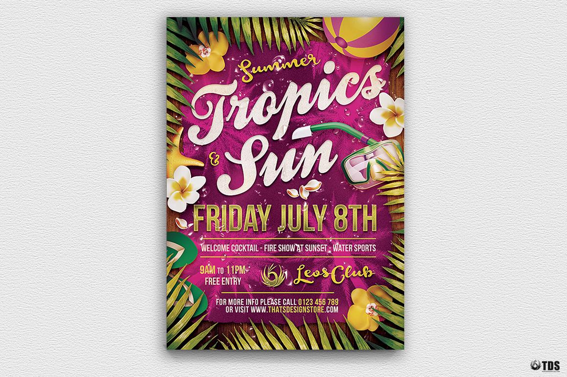 Summer Tropics Flyer Template example image 5