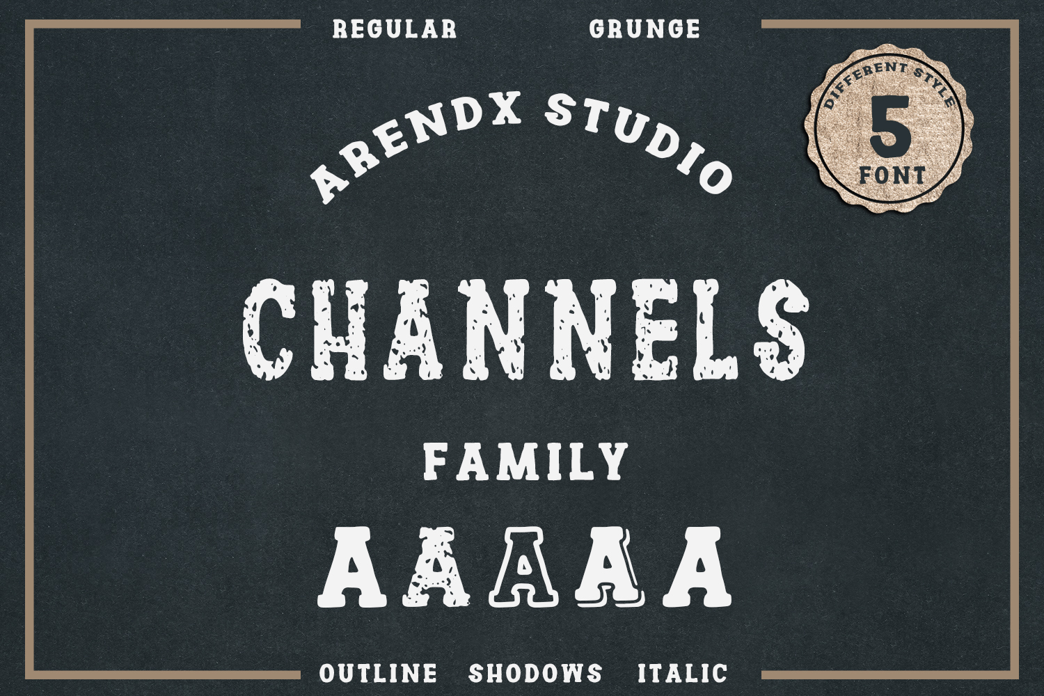 Channles - Family Vintage Font example image 1